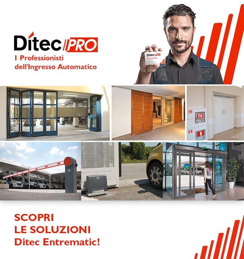 Ditec PRO installatori specializzati negli ingressi automatici e nei prodotti del marchio Ditec Entrematic | TAGEDIL